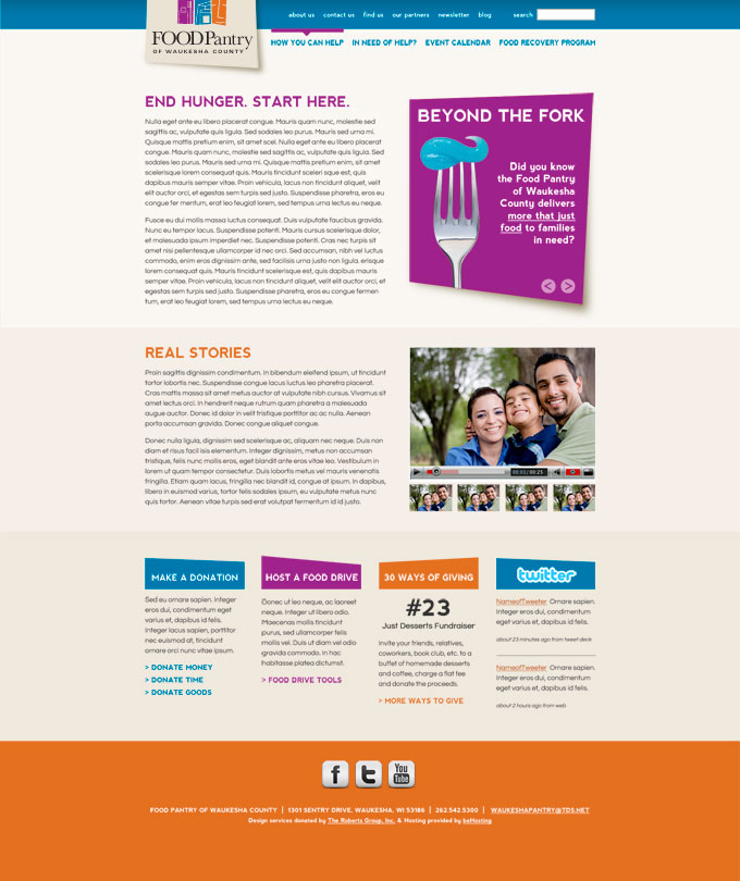 Food Pantry of Waukesha County Website Redesign