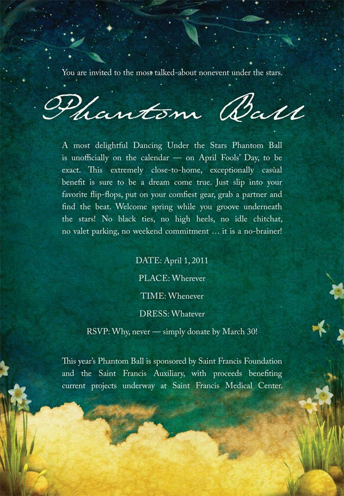 Phantom Ball Invitation