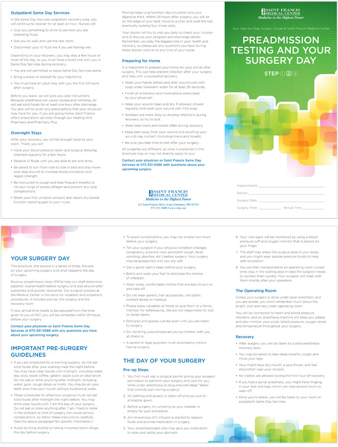 Surgical Site Infection Patient Education Brochures